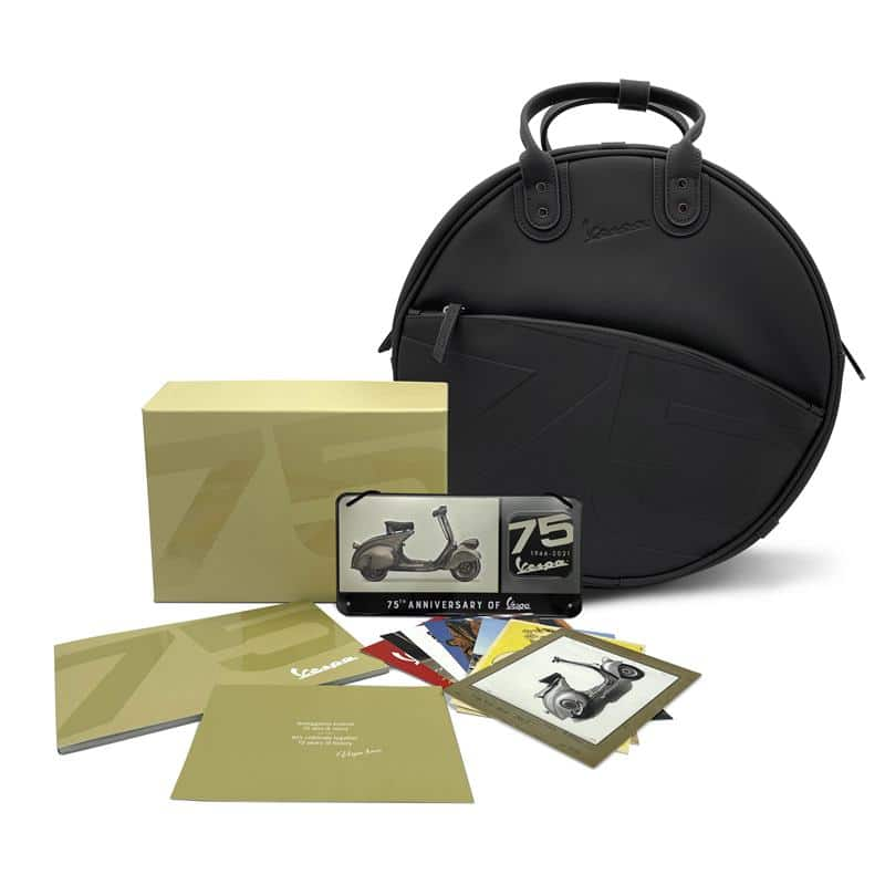 Vespa 75th Anniversary Special Edition welcome kit